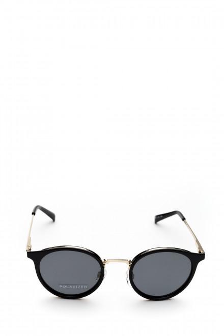 Солнцезащитные очки круглые в тонкой металлической оправе Le Specs