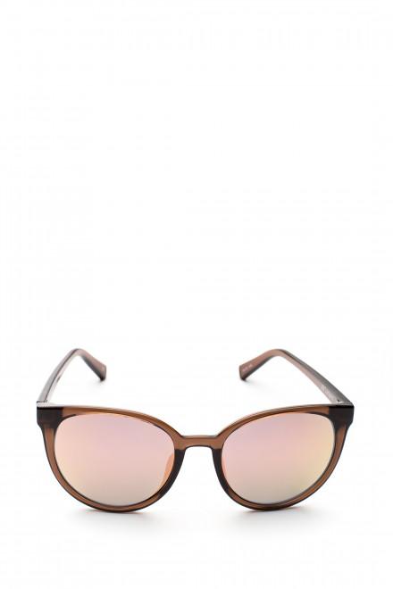 Солнцезащитные очки женские с коричневым градиентом кошачий глаз Le Specs
