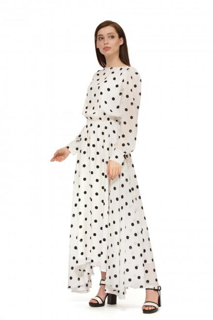 Платье белое в черный горох Miss sixty