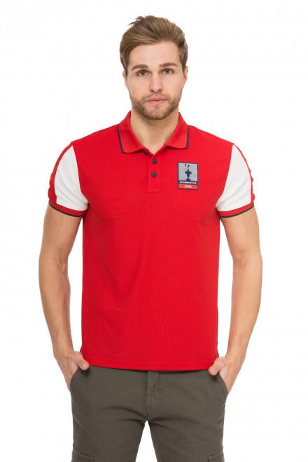 Футболка-поло мужская красная с черной окантовкой North Sails X Prada