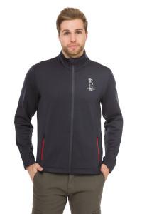 Кардиган мужской темно-синий на молнии с карманами North Sails X Prada
