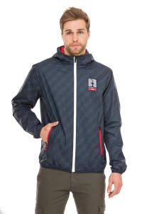 Куртка мужская синяя с принтом и капюшоном North Sails X Prada