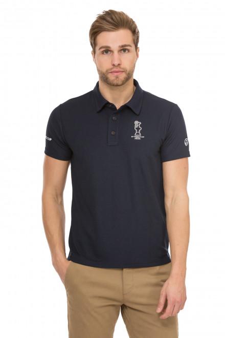 Футболка-поло мужская темно-синяя с логотипом North Sails X Prada