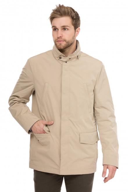 Куртка чоловіча світло-бежева демісезонна на блискавці Schnеiders