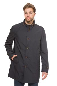 Куртка мужская темно-синяя демисезонная на пуговицах Schneiders