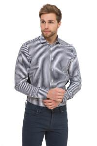 Мужская рубашка со вставками van Laack