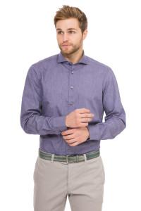 Рубашка мужская синяя однотонная van Laack