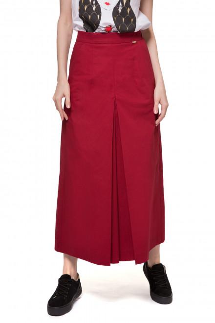 Брюки-юбка (кюлоты) женские красные широкие макси Le Coeur