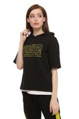 Пуловер женский черного цвета UNQ 1