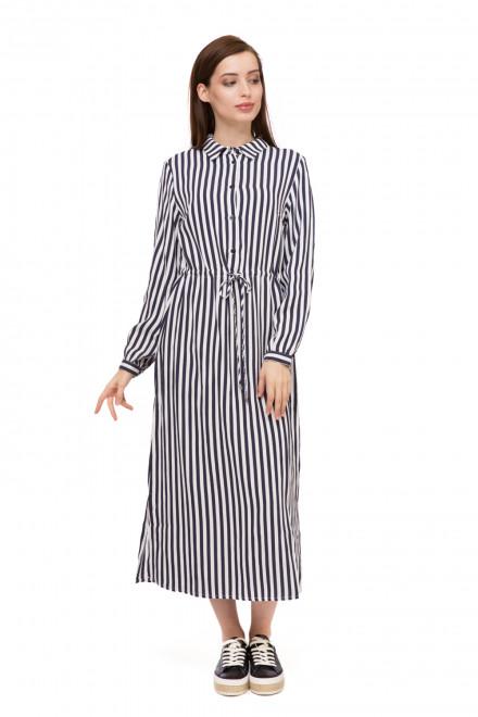 Платье женское с длинным рукавом макси в полоску UNQ