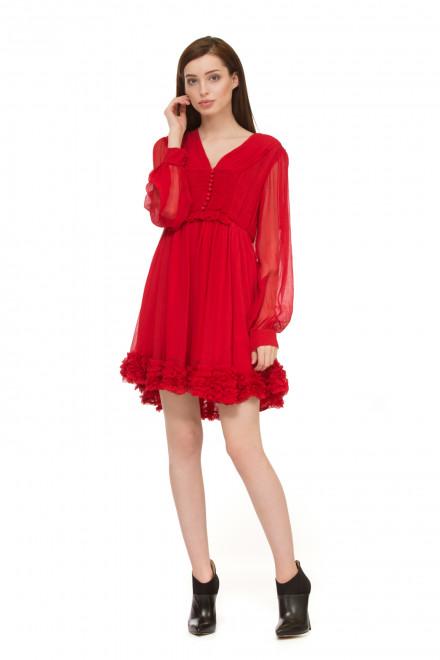 Платье красное шифоновое Miss Sixty