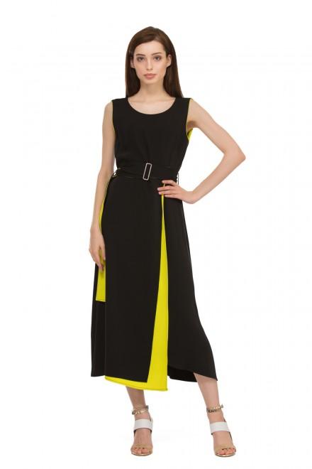 Платье женское миди черное ассиметричного кроя Beatrice