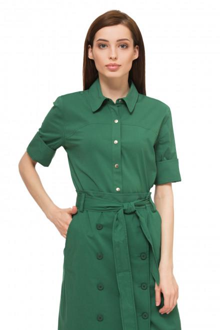 Рубашка женская с коротким рукавом зеленого цвета Steffen Schraut