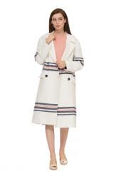 Пальто женское белое с полосами Steffen Schraut 4