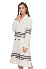 Пальто женское белое с полосами Steffen Schraut 1