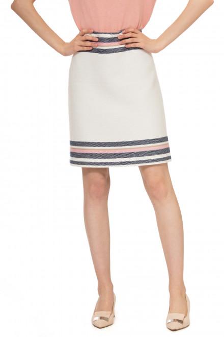 Юбка женская мини белого цвета с декоративной полоской  Steffen Schraut