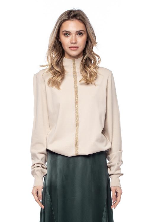 Пуловер женский с золотой полосой Liviana Conti