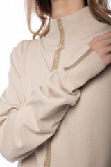 Пуловер женский с золотой полосой Liviana Conti 3