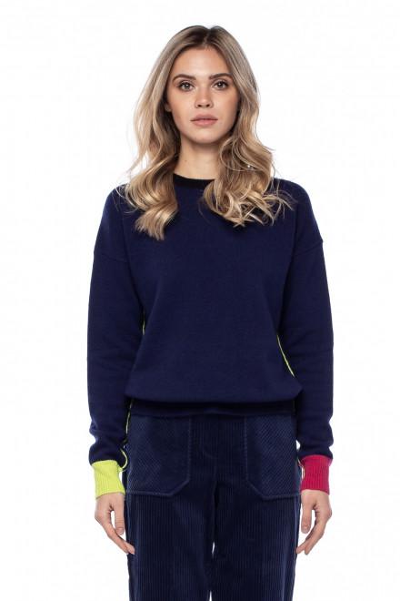 Пуловер женский синий Sfizio