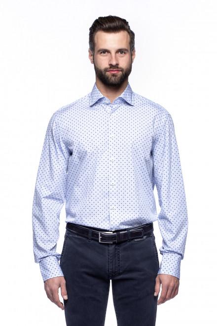 Рубашка мужская белая в микропринт van Laack