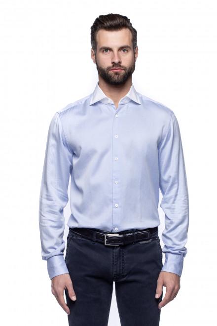 Голубая однотонная рубашка van Laack