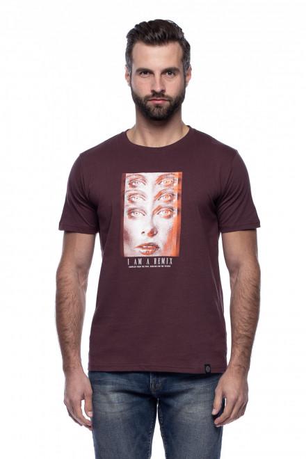 Бордовая футболка с принтом Shine Original