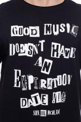 Черная футболка с надписью Shine Original 4