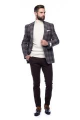 Белый мужской пуловер Ferrante с воротом гольф 7