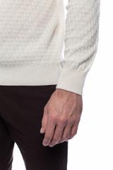 Белый мужской пуловер Ferrante с воротом гольф 4