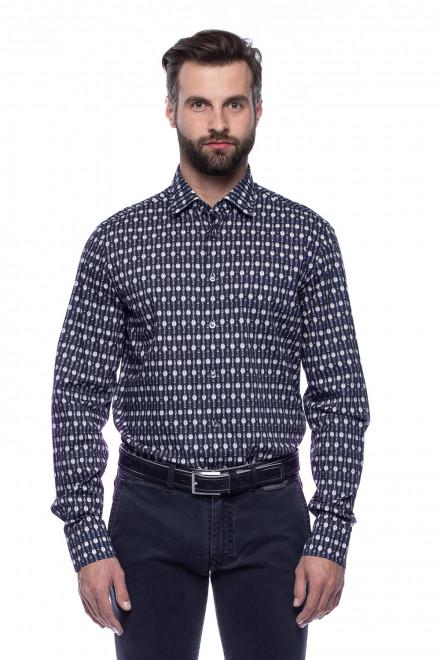 Рубашка мужская van Laack со срезанным воротником и принтом «Часы»