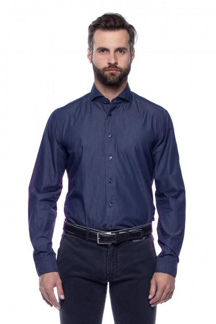 Синяя мужская рубашка van Laack