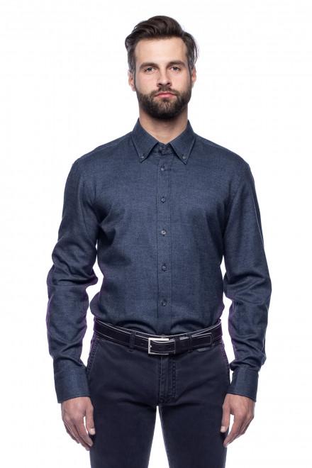 Трикотажна синя сорочка van Laack