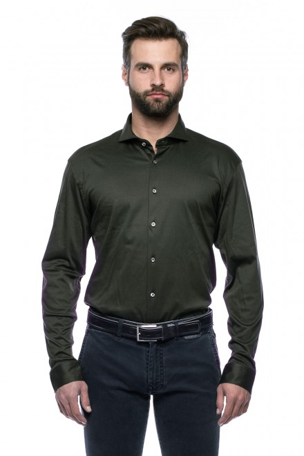 Рубашка оливковая van Laack