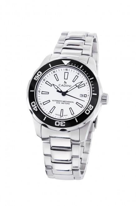 Чоловічий наручний годинник білий Ginevra Cadini