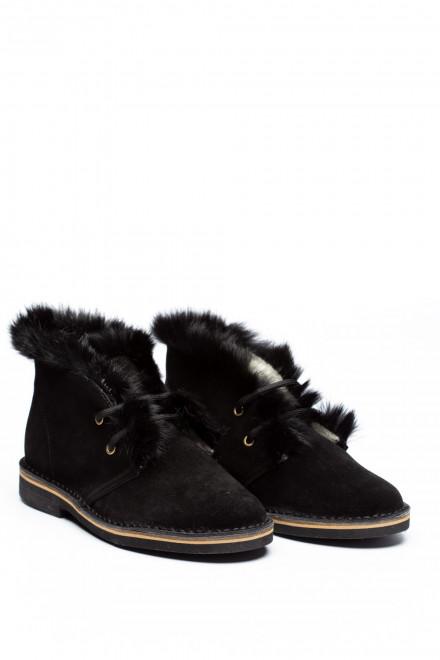 Ботинки женские зимние нубук Pollini