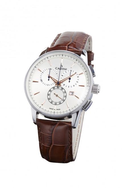 Наручний годинник з коричневим ремінцем Viareggio Cadini
