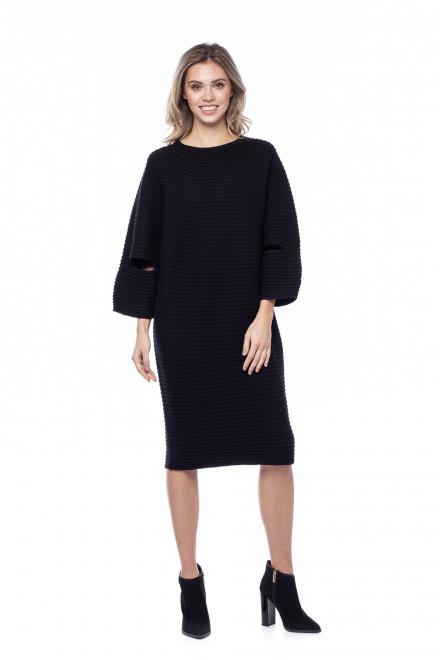Черное ребристое женское платье Liviana Conti