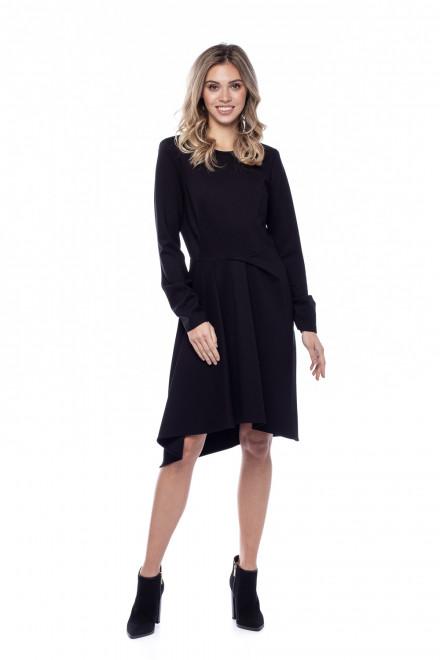 Платье черное асимметричное Sfizio