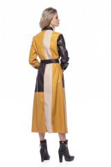 Платье-рубашка из экокожи color block Beatrice .b 4