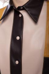Платье-рубашка из экокожи color block Beatrice .b 5