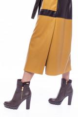 Платье-рубашка из экокожи color block Beatrice .b 8