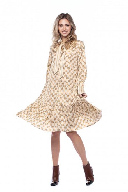 Платье с золотистым принтом Beatrice .b