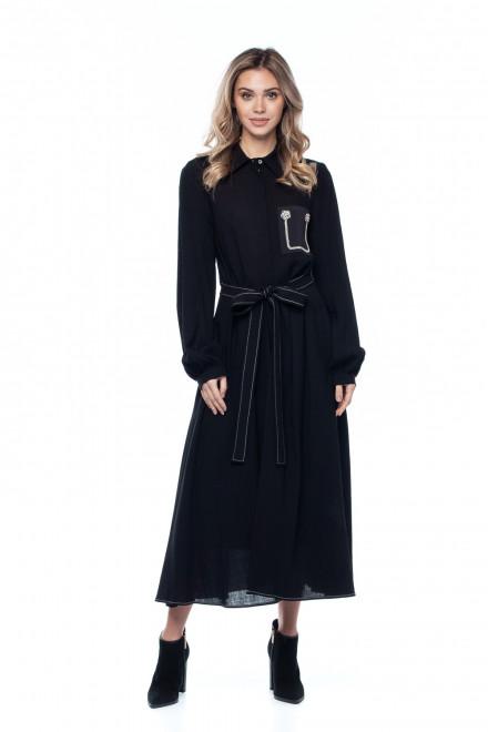 Платье с поясом Sfizio