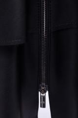 Черная юбка из экокожи с воланами Sfizio 3