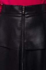 Черная юбка из экокожи с воланами Sfizio 4