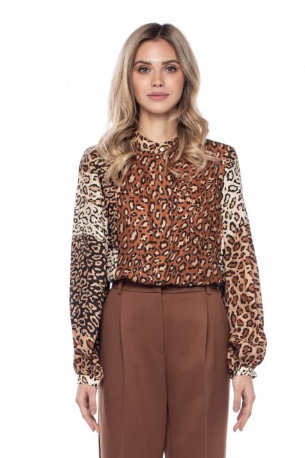 Блуза с леопардовым принтом Sfizio