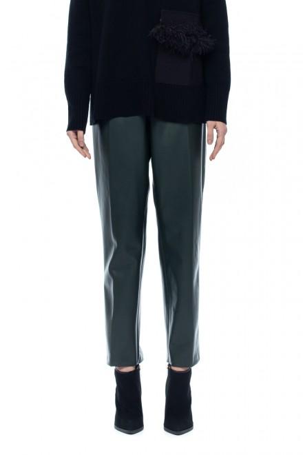Укороченные брюки из экокожи Beatrice .b