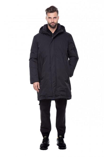 Куртка мужская черная с капюшоном Antony Morato