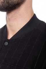 Куртка облегающего кроя из флиса с воротником-стойкой Antony Morato