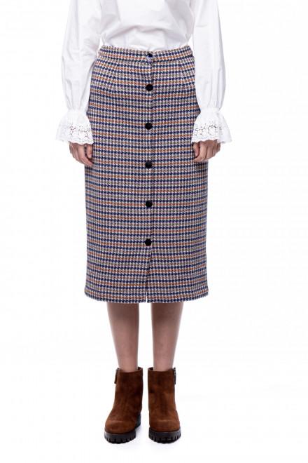Клетчатая юбка-карандаш на пуговицах Rich & Royal